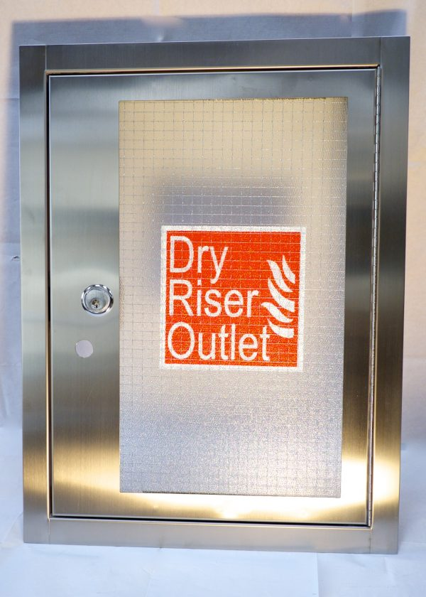 Dry Riser Surface Mounted Outlet Cabinet Stainless Steel (Vertical) HC025