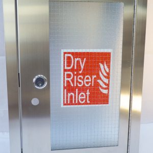 Dry Riser Surface Mounted Inlet Cabinet Stainless steel finish (Vertical) HC023
