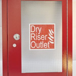 Dry Riser Outlet Architrave & Door