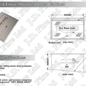 Floor Mounted Dry Riser Inlet Cabinet